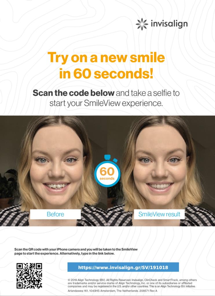 Εφαρμογή invisalign. Δοκιμάστε νέο χαμόγελο σε 60 δεύτερα!